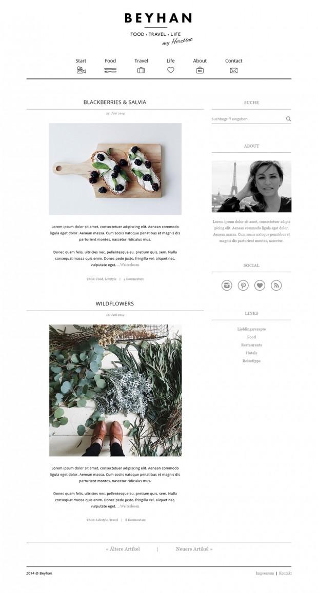Gestaltung und Programmierung eines Blogs