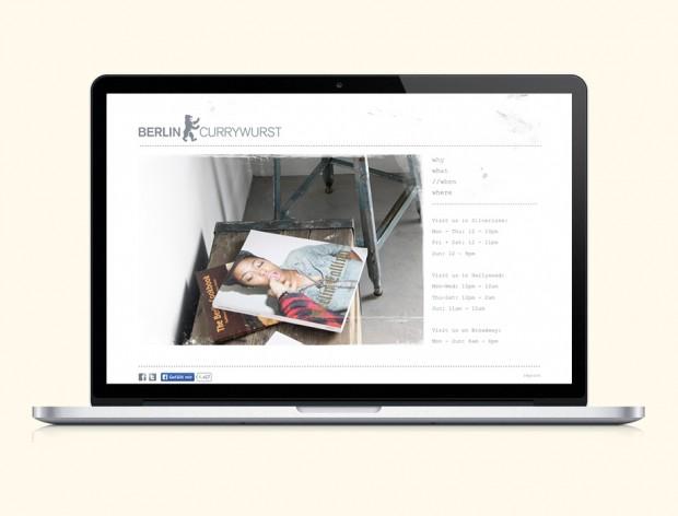 Webseite Berlin Currywurst