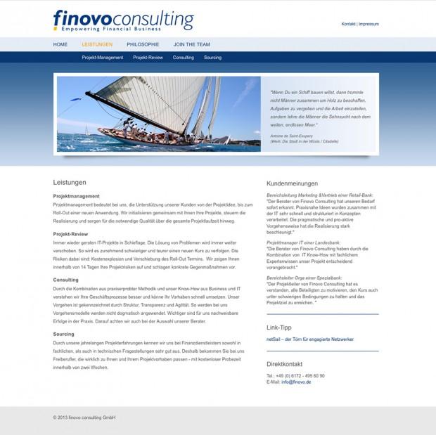 Webseite Finovo Consulting