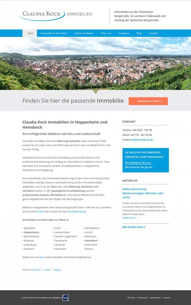 Webseite Immokock