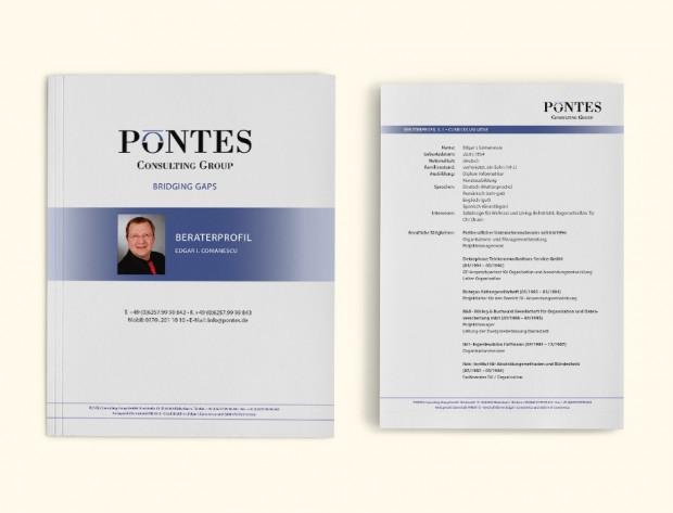 Bewerbungsunterlagen Unternehmensberatung Pontes