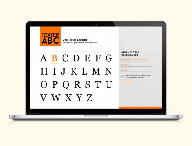 Webseite Texter ABC