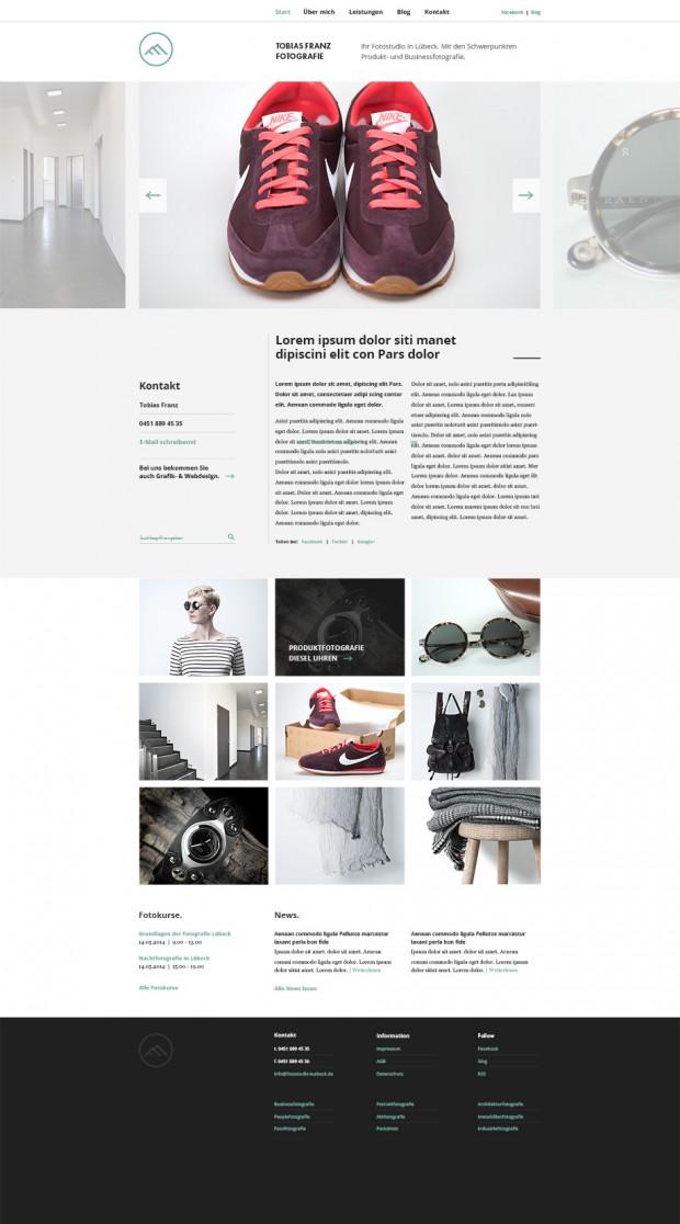 Webseite für unseren Fotografen Tobias Franz