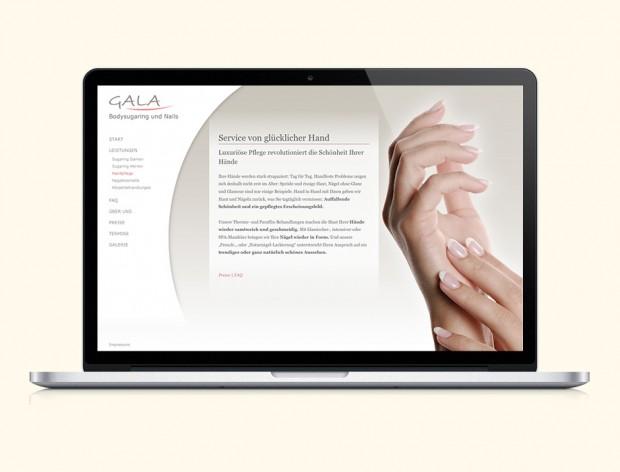 Webseite für Gala Bodysugaring