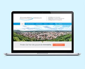 Webseite und Flyer für Immokock