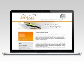 Web- und Grafikdesign für die Textagentur Weverei